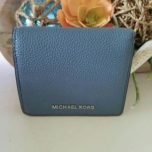 New Michael Kors Mercer carryall bifold wallet